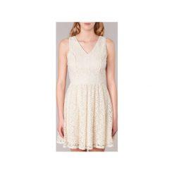 Sukienki krótkie Vero Moda  SASHA. Brązowe sukienki mini marki Vero Moda, l, z krótkim rękawem. Za 143,20 zł.