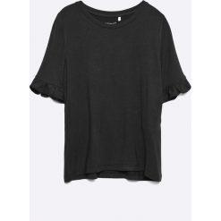 Name it - Top dziecięcy 116-158 cm. Białe bluzki dziewczęce marki Name it, z dzianiny, z okrągłym kołnierzem. W wyprzedaży za 29,90 zł.
