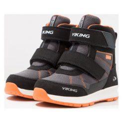 Viking VALHEST GTX  Śniegowce black/orange. Czarne buty zimowe damskie Viking, z materiału. W wyprzedaży za 220,35 zł.