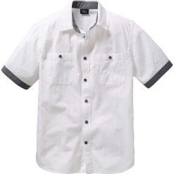 Koszula z krótkim rękawem bonprix biały. Białe koszule męskie marki bonprix, z klasycznym kołnierzykiem, z długim rękawem. Za 54,99 zł.