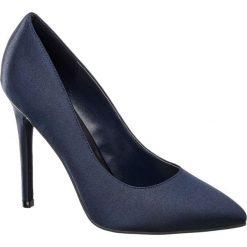 Szpilki damskie Catwalk niebieskie. Niebieskie szpilki marki Catwalk, z materiału. Za 99,90 zł.