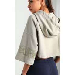 Bluzy rozpinane damskie: Ivy Park CROP HOODY Bluza z kapturem laurel oak