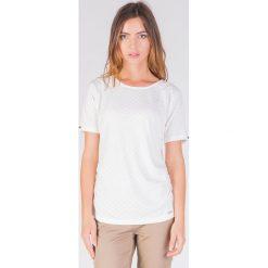 Bluzki damskie: Klasyczna bluzka ecru z koronką QUIOSQUE