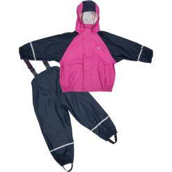 Spodnie niemowlęce: 2-częściowy zestaw przeciwdeszczowy w kolorze granatowo-różowym