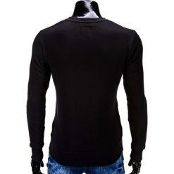 BLUZA MĘSKA BEZ KAPTURA ERICO B575 - CZARNA. Czarne bluzy męskie marki Ombre Clothing, m, z bawełny, bez kaptura. Za 59,00 zł.