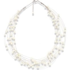 Naszyjniki damskie: Naszyjnik z pereł w kolorze białym – dł. 43 cm