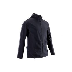 Bluza na zamek fitness kardio FVE900 męska. Czarne bluzy męskie rozpinane DOMYOS, m, z elastanu. Za 119,99 zł.