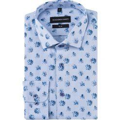 Koszula SIMONE slim KDWS000485. Niebieskie koszule męskie na spinki Giacomo Conti, m, z bawełny, z włoskim kołnierzykiem. Za 169,00 zł.