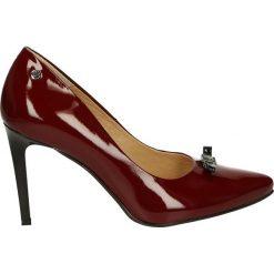 Czółenka - 1407 412 BORD. Brązowe buty ślubne damskie Venezia, ze skóry. Za 199,00 zł.