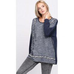 Granatowa Bluza Right Way. Białe bluzy rozpinane damskie Born2be, l, z napisami, ze skóry, z długim rękawem, długie. Za 29,99 zł.