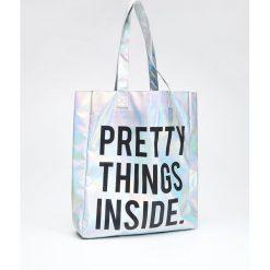 Shopper bag damskie: Torebka typu shopper z efektem holo - Wielobarwny