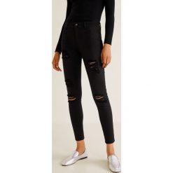 Mango - Jeansy Skinny. Czarne jeansy damskie rurki Mango, z bawełny. Za 119,90 zł.