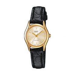 Zegarki damskie: Zegarek Casio damski Berina Quartz czarny (LTP-1154Q-7A)