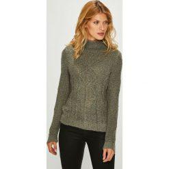 Vila - Sweter. Brązowe swetry klasyczne damskie Vila, l, z dzianiny. W wyprzedaży za 99,90 zł.