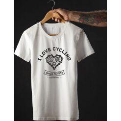Koszulka T-SHIRT. I love cycling. Czarne t-shirty męskie z nadrukiem Pakamera, m. Za 85,00 zł.