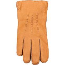 Rękawiczki męskie. Brązowe rękawiczki męskie Gino Rossi, ze skóry. Za 159,90 zł.
