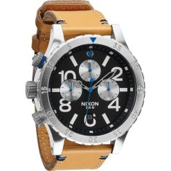 Zegarki męskie: Zegarek męski Natural Black Nixon 48-20 Chrono Leather A3631602
