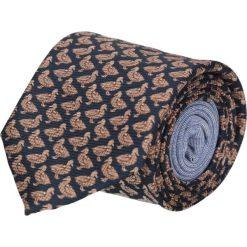 Krawat winman granatowy classic 201. Niebieskie krawaty męskie Recman, z aplikacjami, z bawełny, klasyczne. Za 129,00 zł.