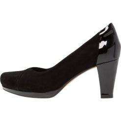 Buty ślubne damskie: Clarks CHORUS CAROL Czółenka na platformie black