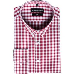 Koszula SIMONE KDWS000233. Czerwone koszule męskie jeansowe marki Giacomo Conti, m, button down. Za 149,00 zł.