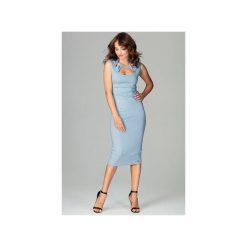 Sukienka K475 Niebieski. Szare sukienki balowe marki Lenitif, l. Za 179,00 zł.