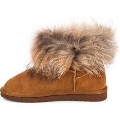 Buty zimowe damskie: SKÓRZANE MUKLUKI