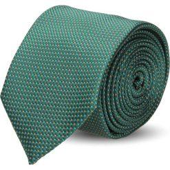 Krawaty męskie: krawat platinum zielony classic 202