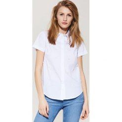 Koszula z krótkim rękawem - Biały. Białe koszule męskie marki House, l, z krótkim rękawem. W wyprzedaży za 49,99 zł.