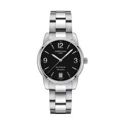 RABAT ZEGAREK CERTINA DS PODIUM C034.210.11.057.00. Czarne zegarki damskie CERTINA, ze stali. W wyprzedaży za 1311,20 zł.