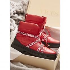 Czerwone Śniegowce Winterweight. Czerwone buty zimowe damskie other, z materiału. Za 139,99 zł.