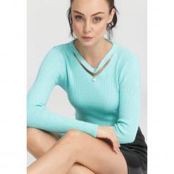 Miętowy Sweter Moral Relaxation. Zielone swetry klasyczne damskie other, na jesień, uniwersalny. Za 39,99 zł.