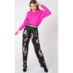 Spodnie z wysokim stanem: By Malene Birger Spodnie Eskilda – Black,Multicolor