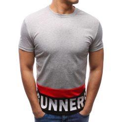 T-shirty męskie z nadrukiem: T-shirt męski z nadrukiem szary (rx2688)