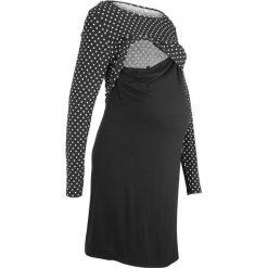 Sukienka shirtowa ciążowa i do karmienia bonprix czarny. Czarne sukienki ciążowe marki Reserved, l, z dekoltem na plecach. Za 79,99 zł.