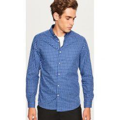 Koszula regular fit - Granatowy. Niebieskie koszule męskie na spinki Reserved, l. Za 119,99 zł.