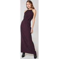 Samsoe & Samsoe Długa sukienka Willow - Purple. Fioletowe długie sukienki marki Samsøe & Samsøe, w koronkowe wzory, z koronki, z długim rękawem. Za 566,95 zł.