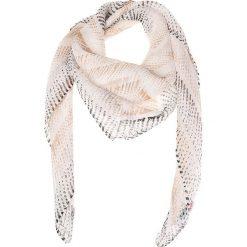 Chusty damskie: Chusta w kolorze biało-musztardowym – 80 x 80 cm