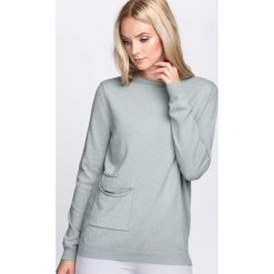 Jasnozielony Sweter Count On Me. Szare swetry klasyczne damskie Born2be, l, z dzianiny, z dekoltem w łódkę. Za 59,99 zł.