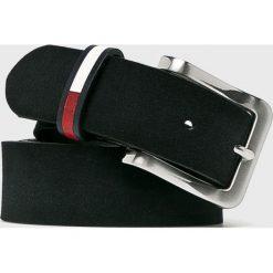Tommy Jeans - Pasek skórzany. Czarne paski męskie marki Tommy Jeans, w paski, z jeansu. Za 229,90 zł.