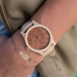 Zegarek Neat Zegarek damski klon drewniany brązowo-złoty 38mm. Brązowe zegarki damskie Neat, złote. Za 387,50 zł.