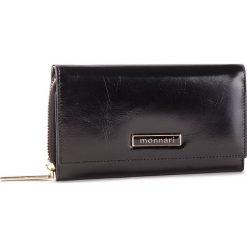 Duży Portfel Damski MONNARI - PUR0700-020 Black. Czarne portfele damskie Monnari, ze skóry. W wyprzedaży za 159,00 zł.