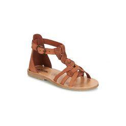 Sandały Dziecko  Citrouille et Compagnie  MAVIALA. Czerwone sandały dziewczęce marki Born2be, z materiału, z otwartym noskiem, na zamek. Za 125,30 zł.