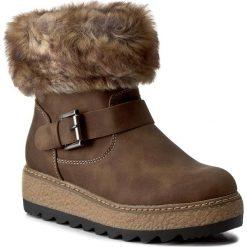 Botki JENNY FAIRY - WS16361-7A Beżowy Ciemny. Brązowe buty zimowe damskie Jenny Fairy, z materiału. W wyprzedaży za 97,99 zł.