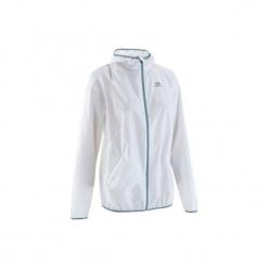 Kurtka do biegania RUN WIND damska. Białe kurtki damskie marki KALENJI, z materiału. W wyprzedaży za 29,99 zł.