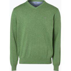 Swetry klasyczne męskie: Fynch Hatton – Sweter męski, zielony