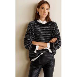 Mango - Sweter Discobal. Szare swetry klasyczne damskie marki Mango, l, z dzianiny, z okrągłym kołnierzem. Za 159,90 zł.