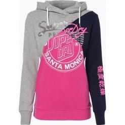Superdry - Damska bluza nierozpinana, szary. Szare bluzy z kapturem damskie marki Superdry, xl. Za 229,95 zł.