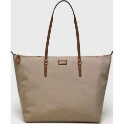 Lauren Ralph Lauren - Torebka. Szare shopper bag damskie Lauren Ralph Lauren, z materiału, do ręki, duże. Za 599,90 zł.
