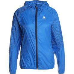ODLO JACKET WISP                Kurtka Outdoor energy blue. Niebieskie kurtki damskie turystyczne Odlo, xl, z materiału. Za 339,00 zł.