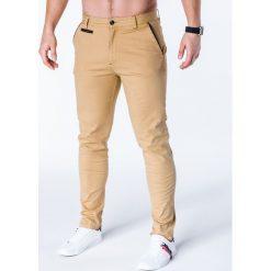 Spodnie męskie: SPODNIE MĘSKIE CHINO P646 – BEŻOWE